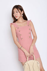*TPZ* (PREMIUM) PIXIE EYELET ROMPER IN POWDER PINK
