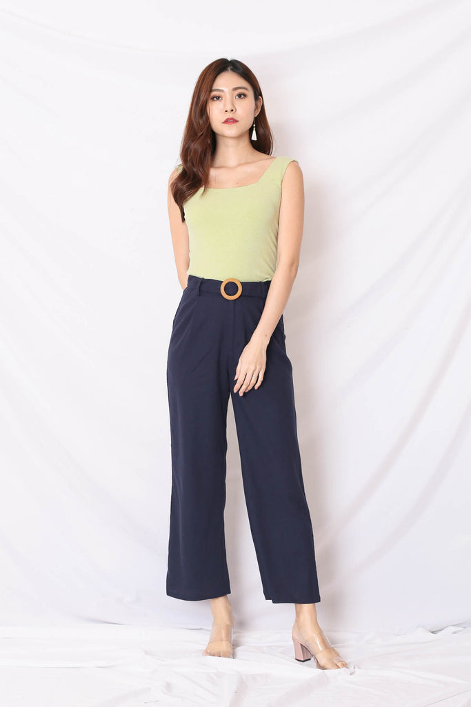 *TPZ* (PREMIUM) JOIE LINEN PANTS IN NAVY