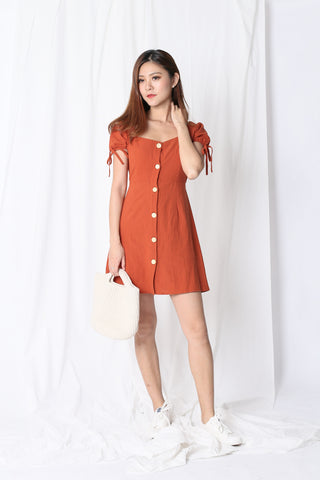 11650a0544d COURTNEY LINEN DRESS IN TERRACOTTA