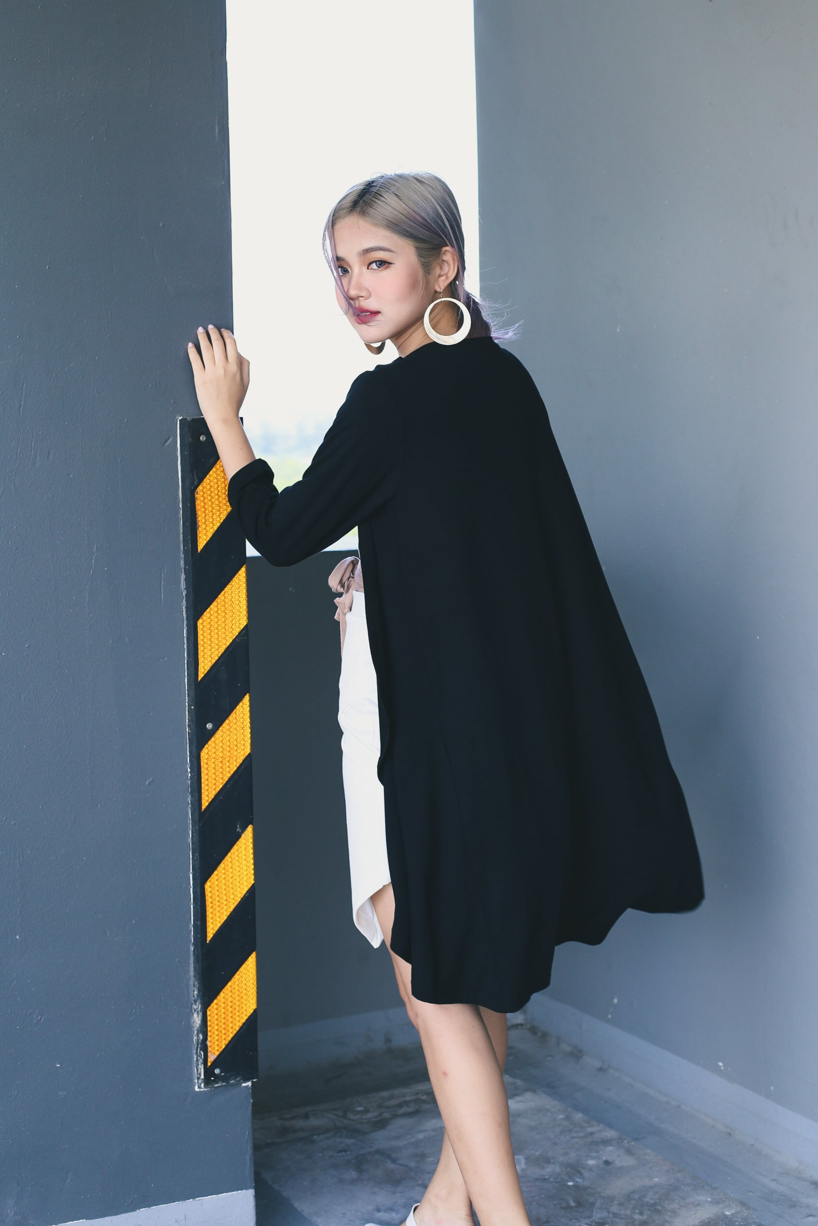 *RESTOCKED* EVERYDAY COTTON LONGLINE CARDIGAN IN BLACK