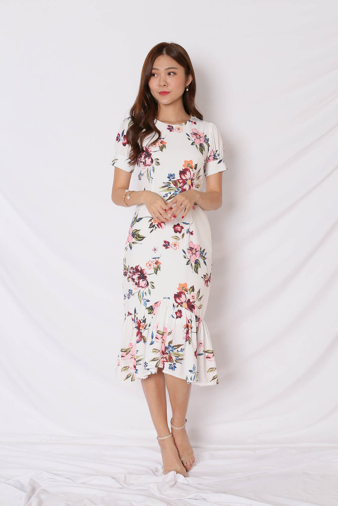 *TPZ* (PREMIUM) YVE DRESS IN WHITE FLORALS