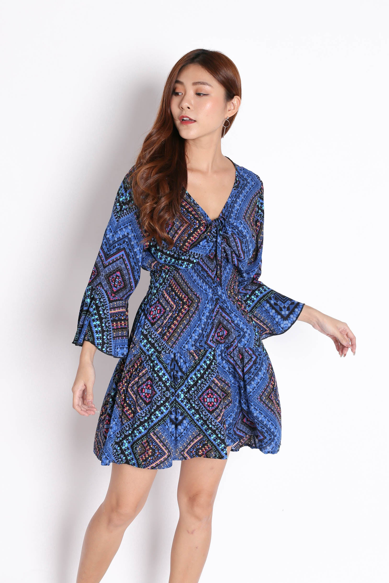 Bali Batik Dress V3 In Cool