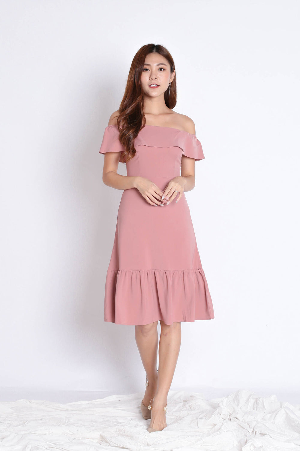 *TPZ* (PREMIUM) LUELLA DRESS IN POWDER PINK