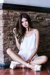 *TOPAZ* RESORT BOHO ROMPER IN WHITE - TOPAZETTE