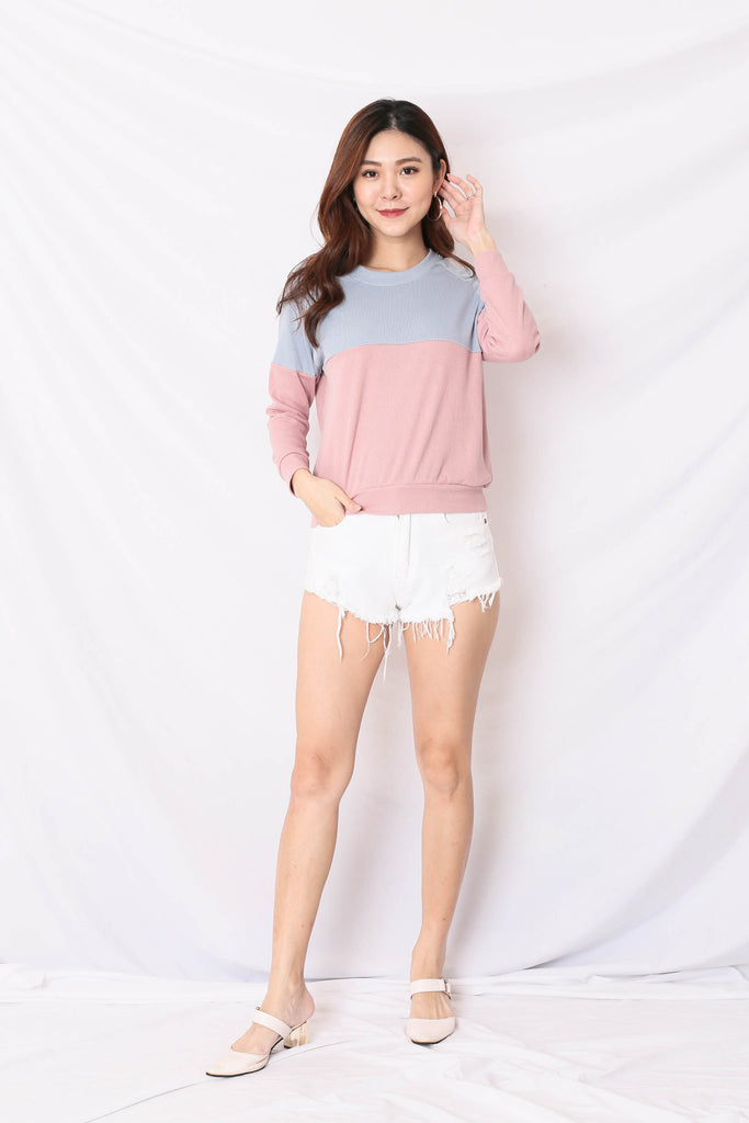PASTEL PULLOVER (BLUE/ PINK)