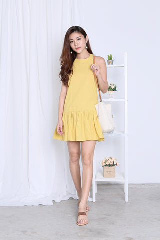 SUMMER DROP WAIST DRESS IN SUNSHINE