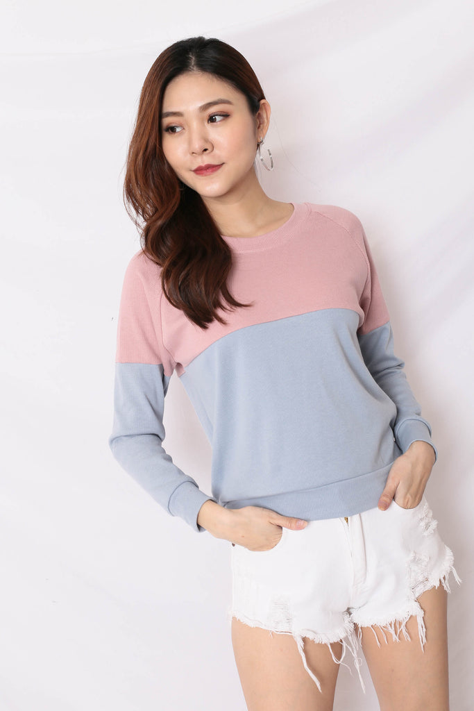 PASTEL PULLOVER (PINK/BLUE)