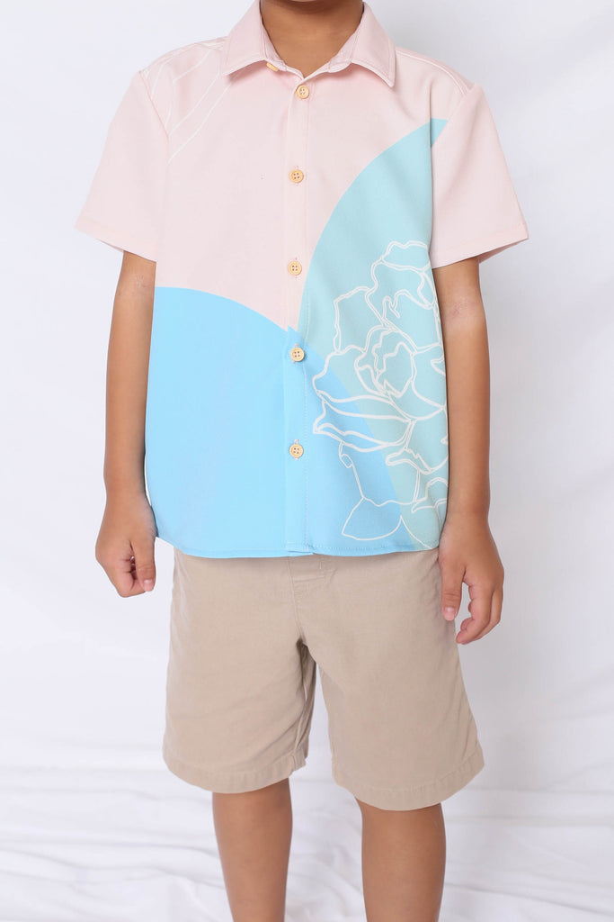 *LITTLE TOPAZETTE* REUNION UNISEX SHIRT IN BLUE - TOPAZETTE
