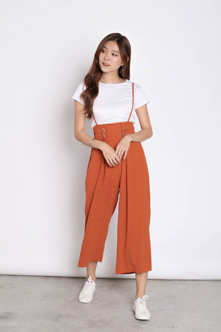 MERLY DUNGAREE JUMPERUIT SET IN TERRACOTTA
