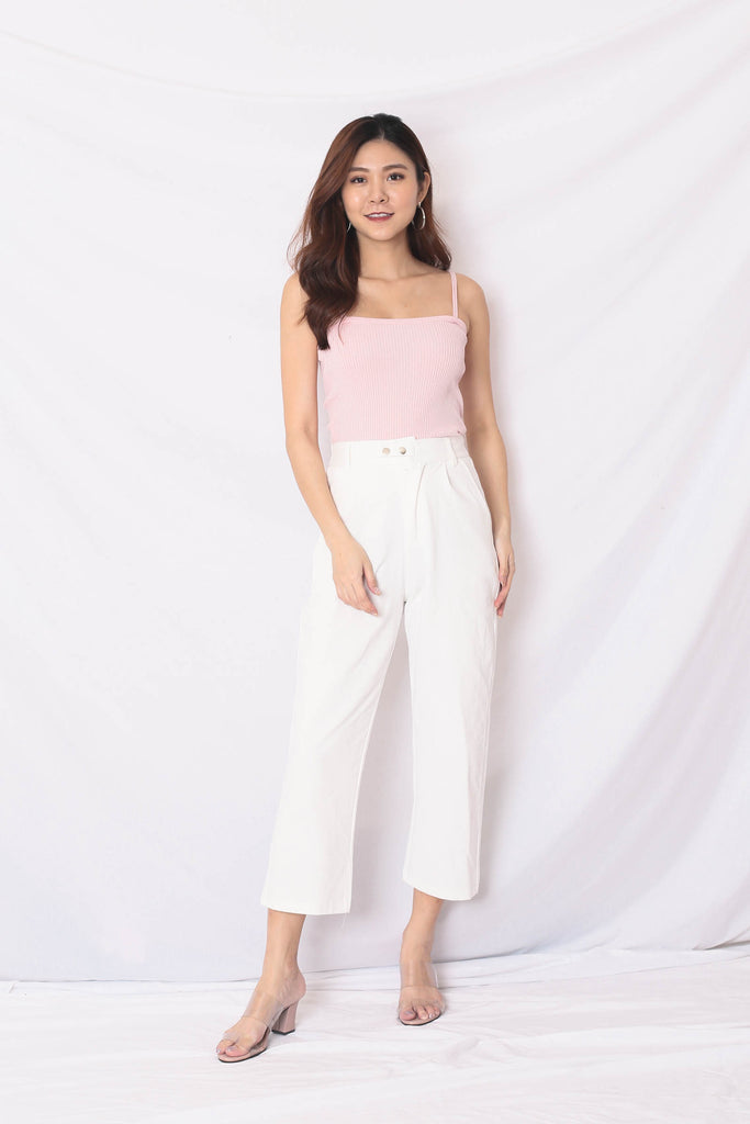 LUNA CARGO PANTS IN WHITE