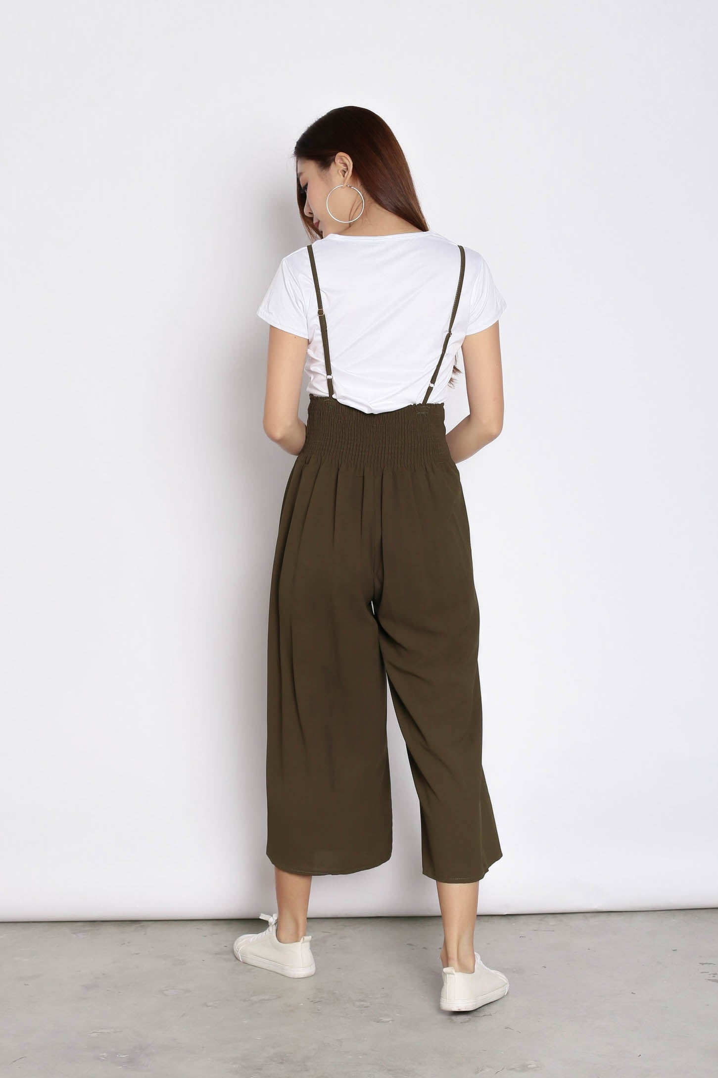 MERLY DUNGAREE JUMPERUIT SET IN OLIVE