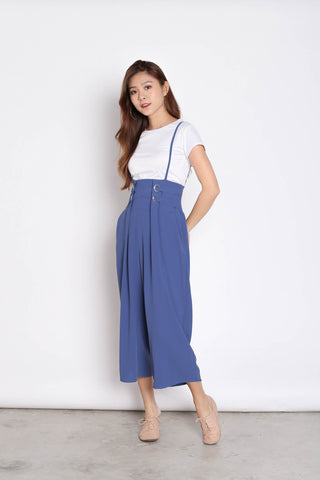 MERLY DUNGAREE JUMPERUIT SET IN AZURE BLUE