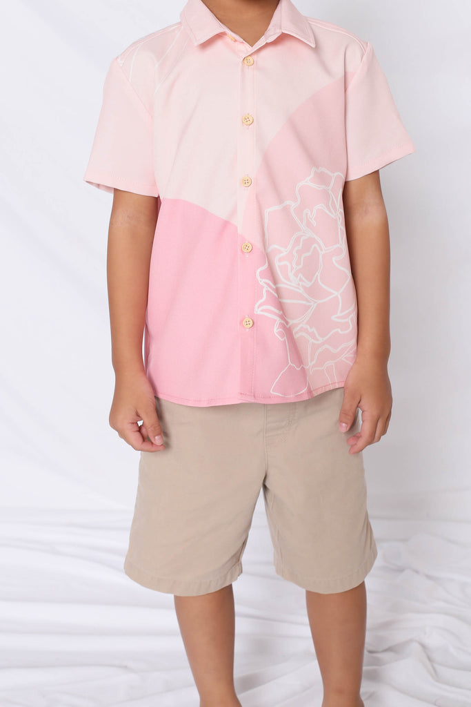 *LITTLE TOPAZETTE* REUNION UNISEX SHIRT IN PINK - TOPAZETTE