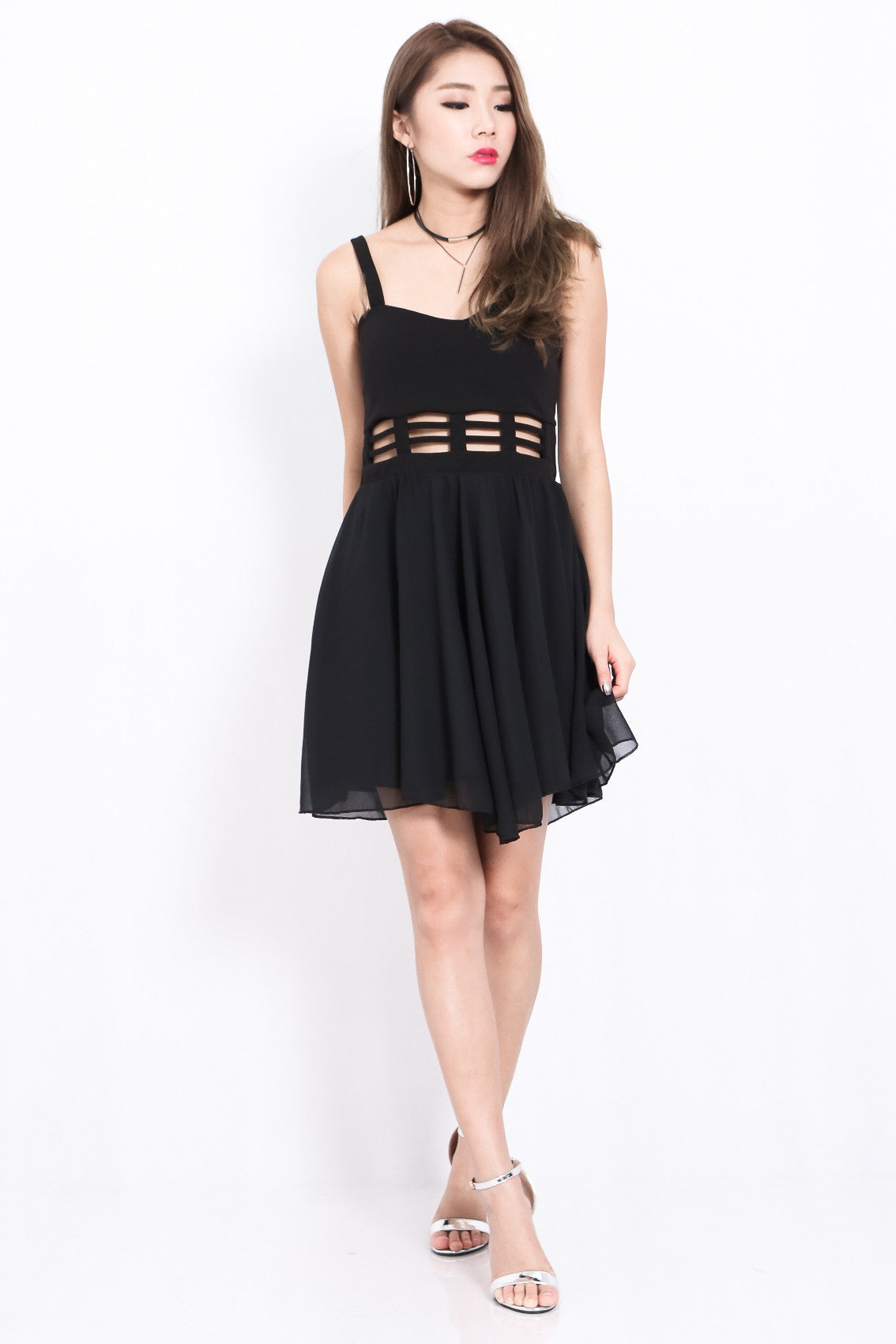 METADOR DRESS IN BLACK - TOPAZETTE
