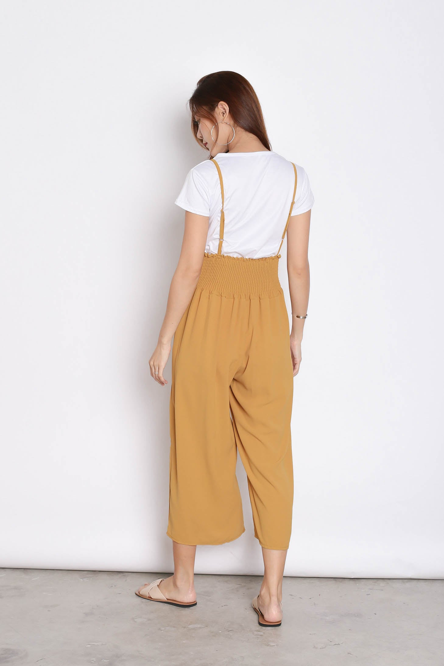 MERLY DUNGAREE JUMPERUIT SET IN MUSTARD