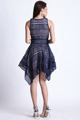 (PREMIUM) ECLIPSE DRESS IN NAVY - TOPAZETTE