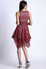 (PREMIUM) ECLIPSE DRESS IN WINE - TOPAZETTE