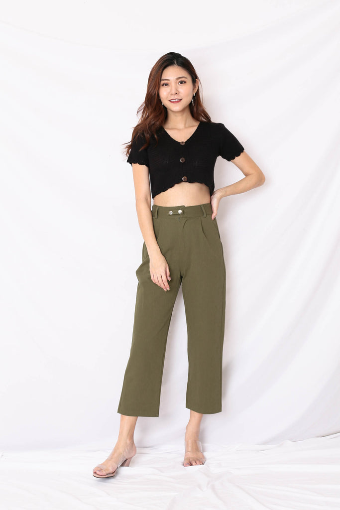 LUNA CARGO PANTS IN ARMY GREEN