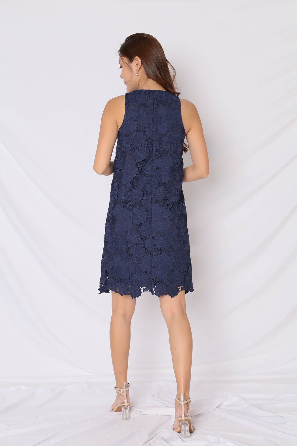 (PREMIUM) NOVA CROCHET DRESS IN NAVY