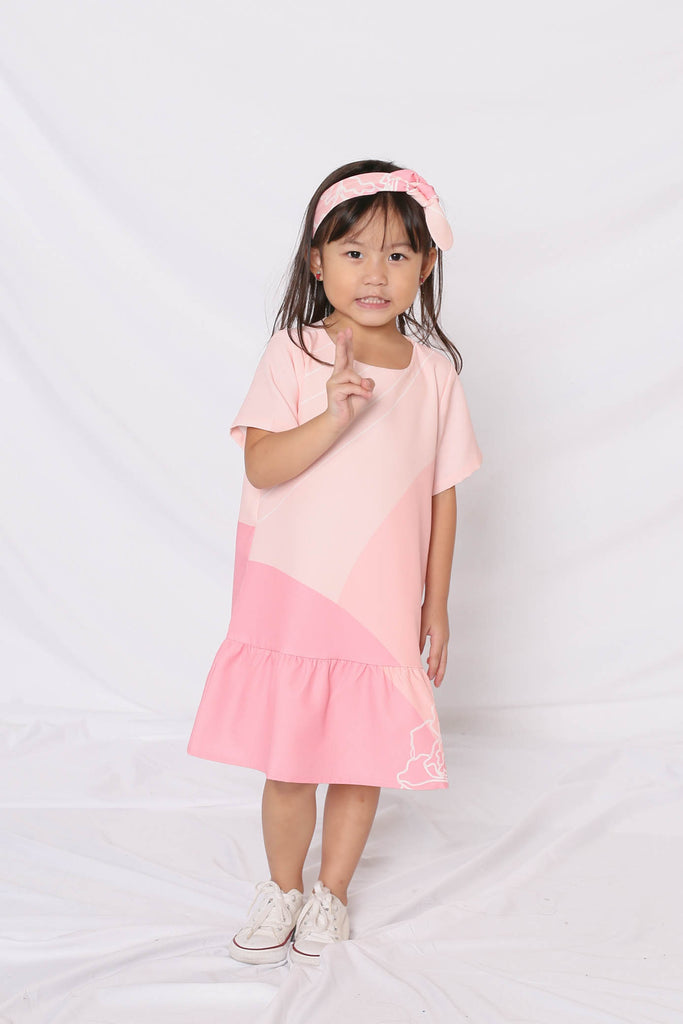 *LITTLE TOPAZETTE* REUNION DROP WAIST DRESS IN PINK - TOPAZETTE
