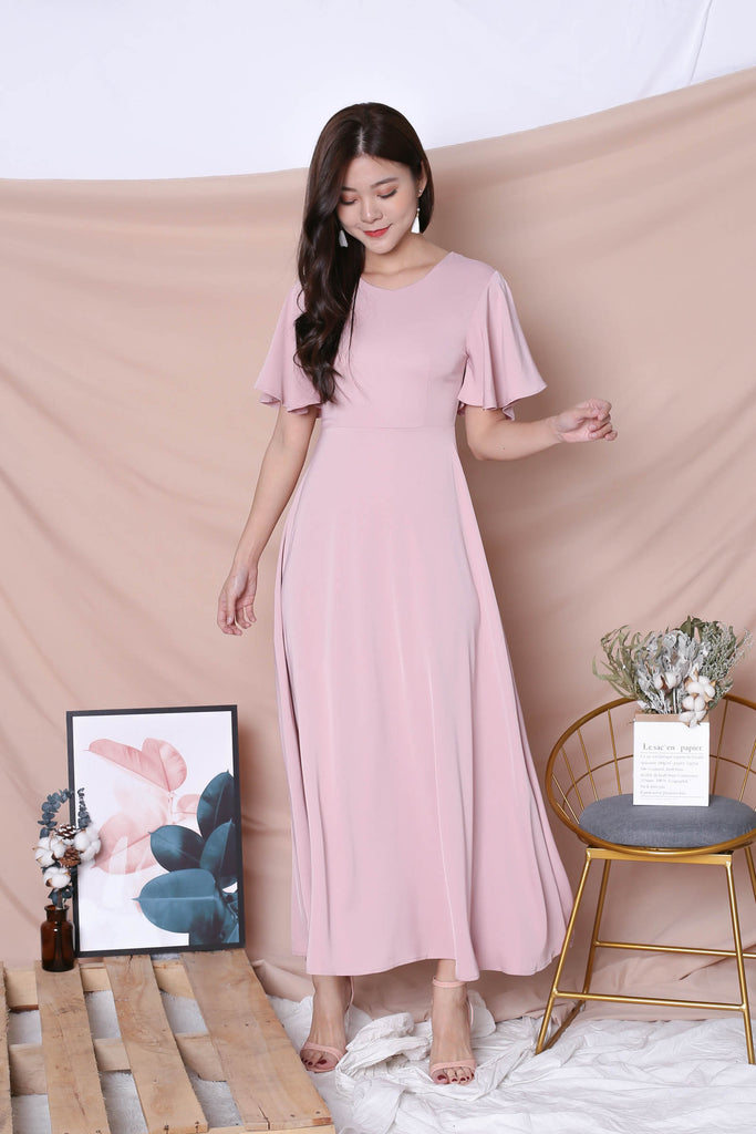 *TPZ* (PREMIUM) EVANA MAXI IN DUSTY PINK - TOPAZETTE