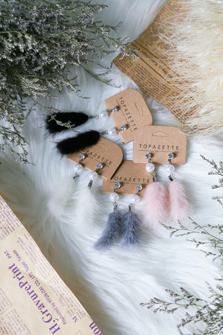 KAIA FUR EARRINGS