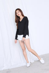 GLYNN LOOSE FIT TOP IN BLACK