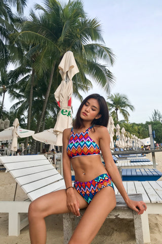 *RESTOCKED* SPORTY VIBES BIKINI SET (GEOMETRIC AZTEC B)