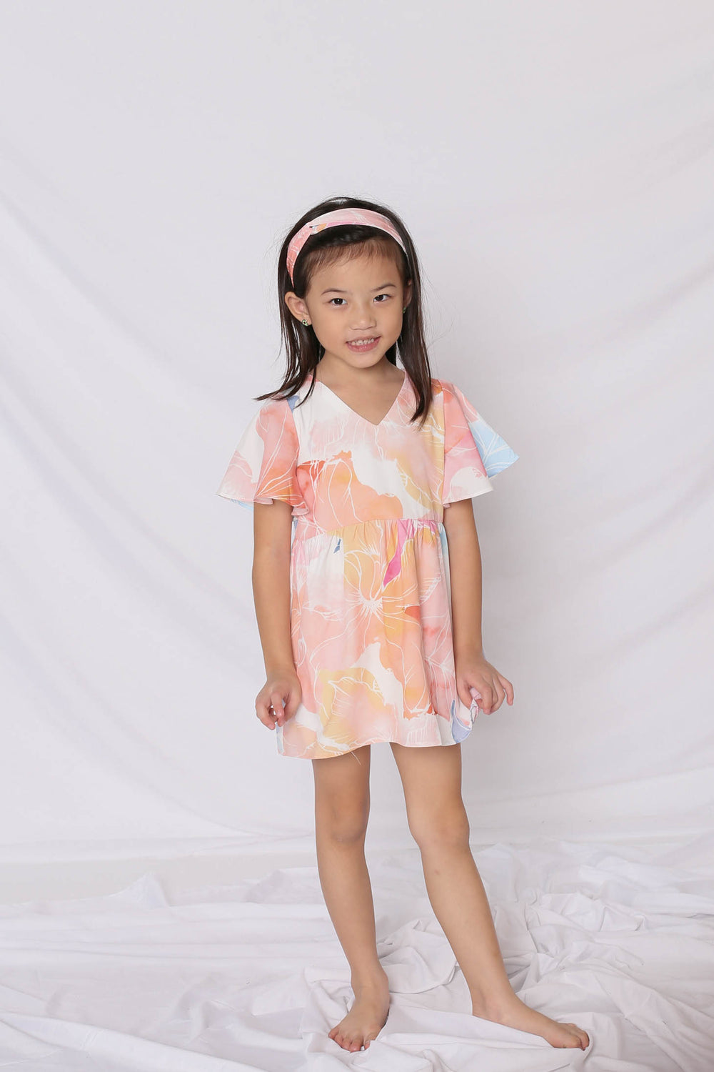 *LITTLE TOPAZETTE* SPRING BLOOM FLUTTER BABYDOLL DRESS