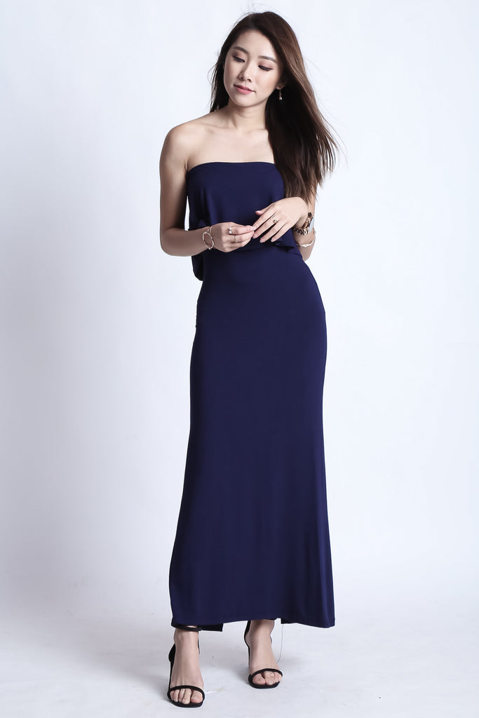 DATE OUT MAXI IN NAVY - TOPAZETTE