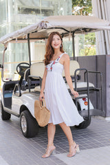 BETHEL EMBROIDERY DRESS IN WHITE