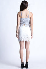(RESTOCKED) SCARLETT LACE SKIRT IN WHITE - TOPAZETTE