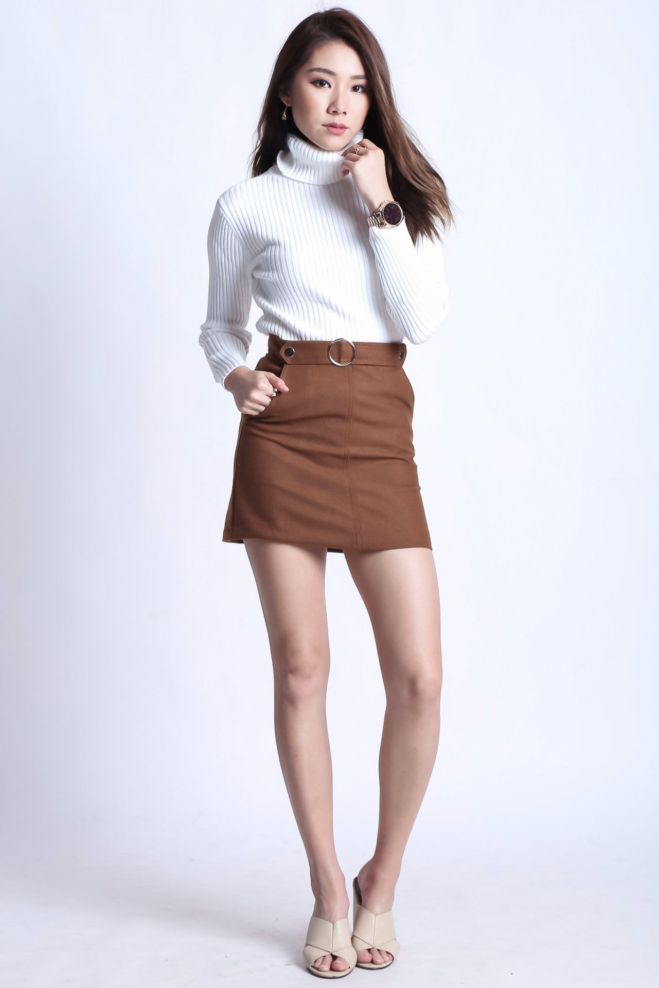 ZEDLER RING SKIRT IN KHAKI