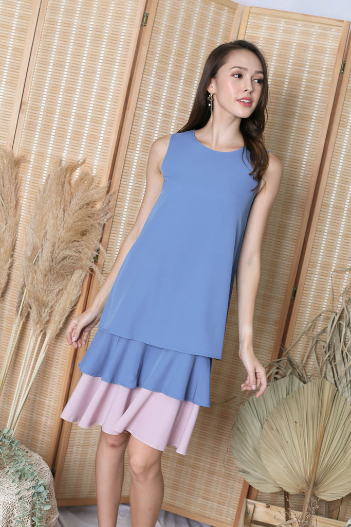 *TPZ* (PREMIUM) ORA REVERSIBLE DRESS (PINK/ BLUE)