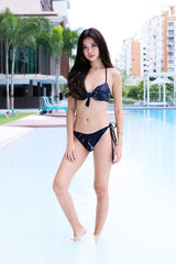 *RESTOCKED* CITARA TWIST BIKINI SET (BLACK MARBLE)