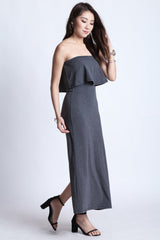 (RESTOCKED) DATE OUT MAXI IN GREY - TOPAZETTE