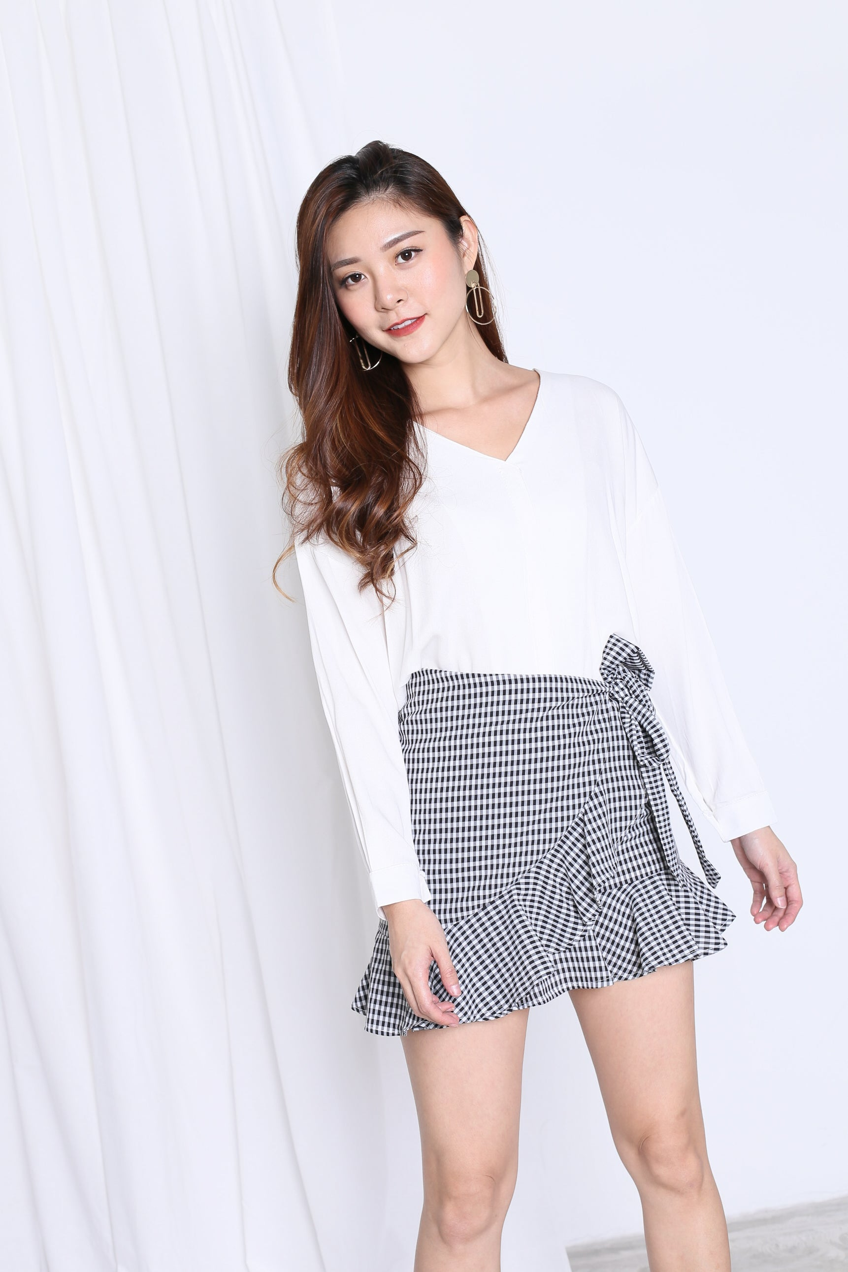 GLYNN LOOSE FIT TOP IN WHITE