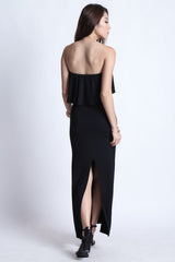 *BACKORDER* DATE OUT MAXI IN BLACK - TOPAZETTE