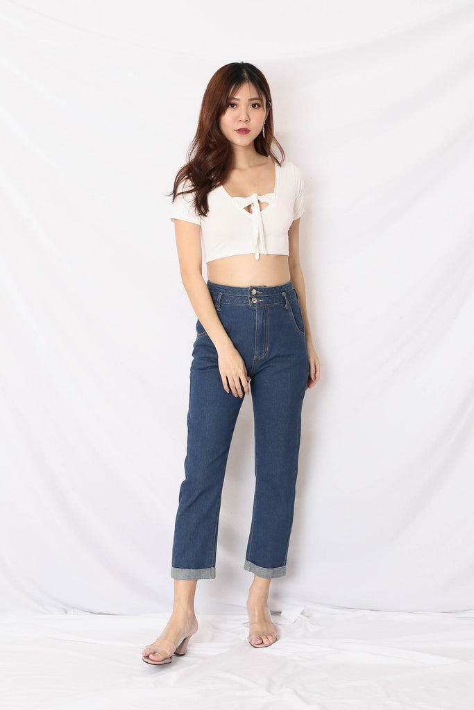 *TPZ* (PREMIUM) ZALIA HIGH WAISTED JEANS IN MID WASH