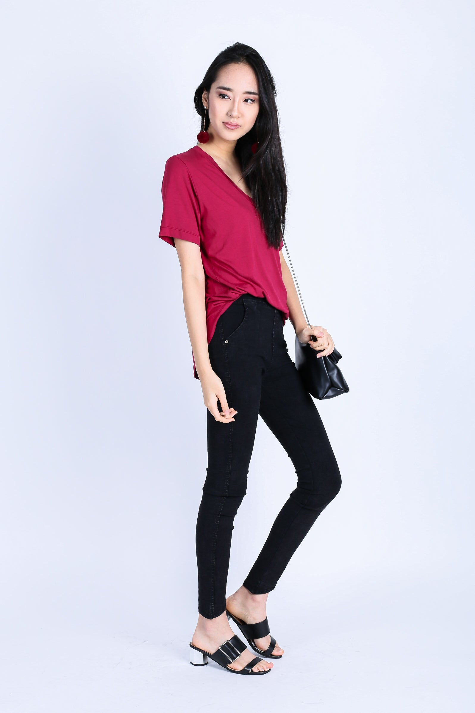 *RESTOCKED* OFF DUTY SLOUCH TOP IN WINE