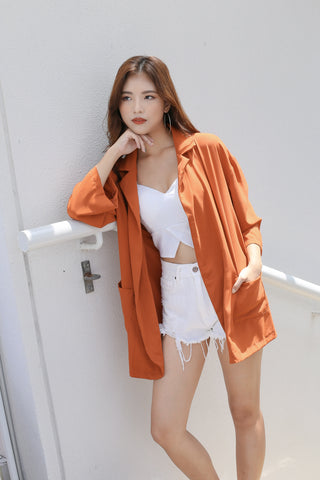 SEGIO OVERSIZED BLAZER IN TERRACOTTA