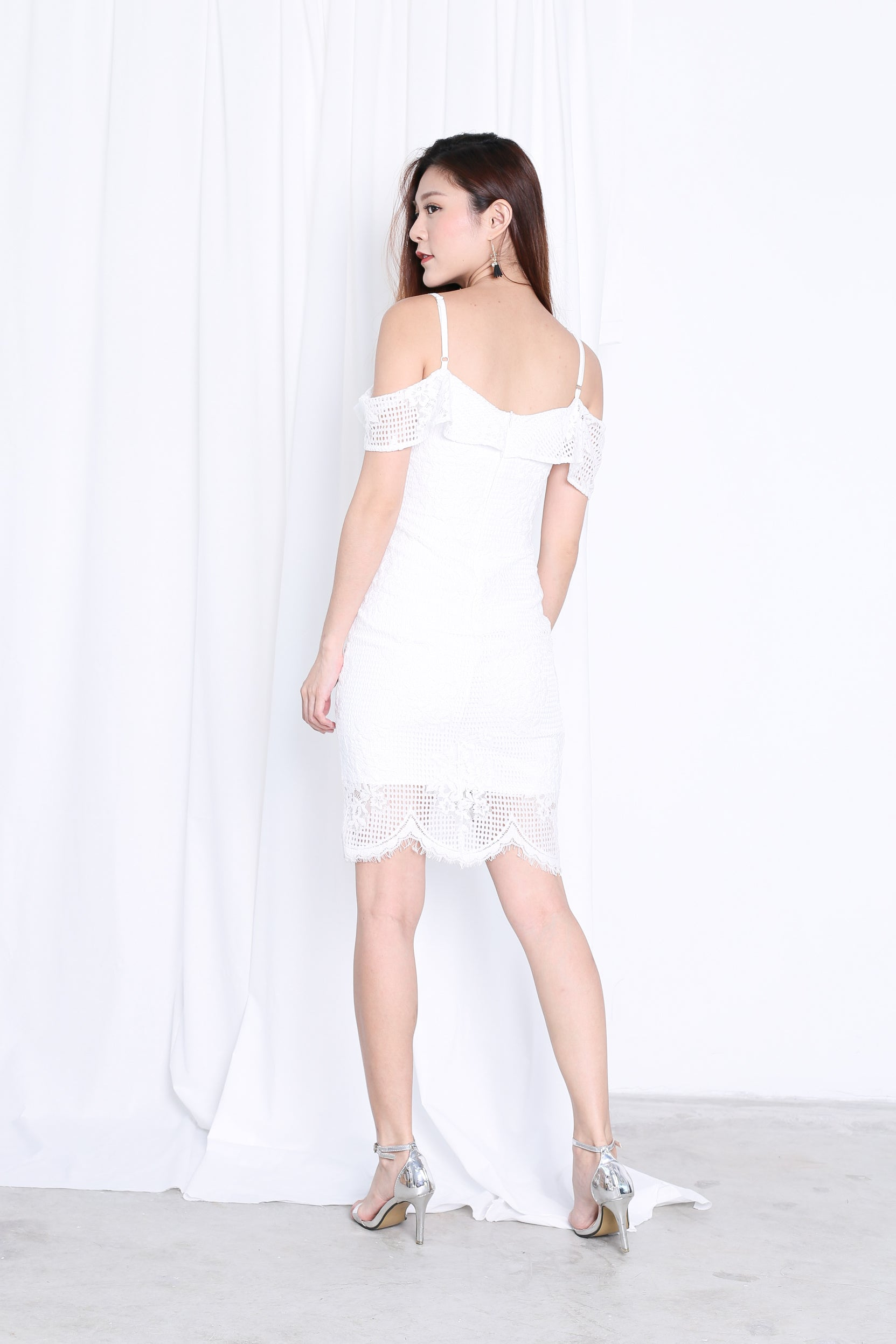 *TOPAZ* (PREMIUM) SOLACE LACE DRESS IN WHITE