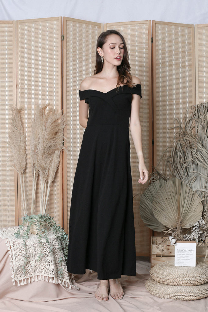 RAYLA OFF SHOULDER MAXI IN BLACK