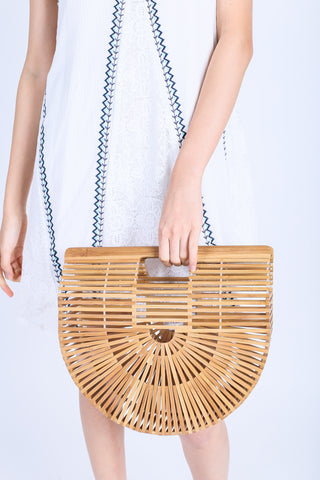 *BACKORDER* BOHO WOODEN CLUTCH