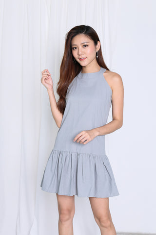 SUMMER DROP WAIST DRESS IN GREY