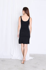 *BACKORDER* BASIC HIGH SLIT DRESS IN BLACK