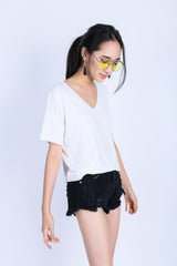 *RESTOCKED* OFF DUTY SLOUCH TOP IN WHITE