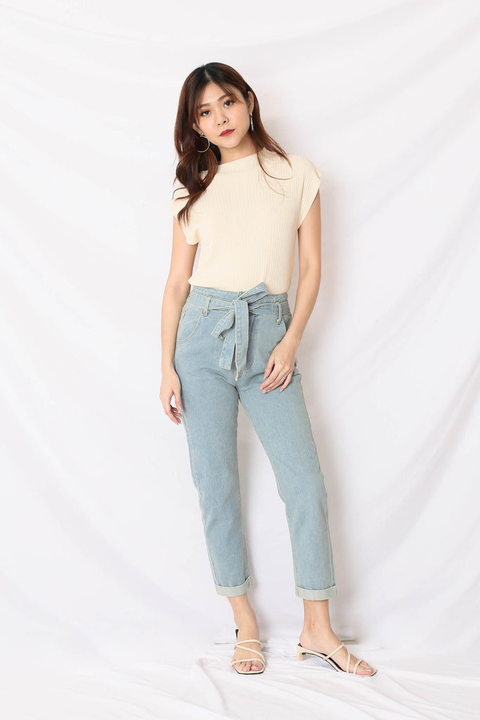 *TPZ* (PREMIUM) ZALIA HIGH WAISTED JEANS IN LIGHT WASH