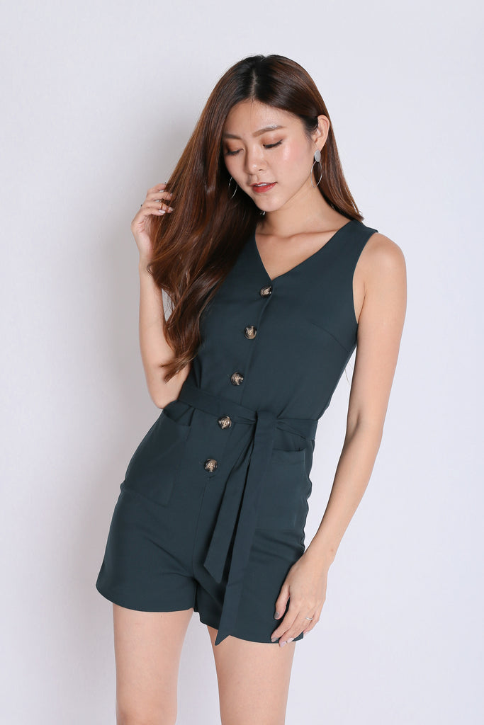 *TPZ* (PREMIUM) TYRA ROMPER IN FOREST