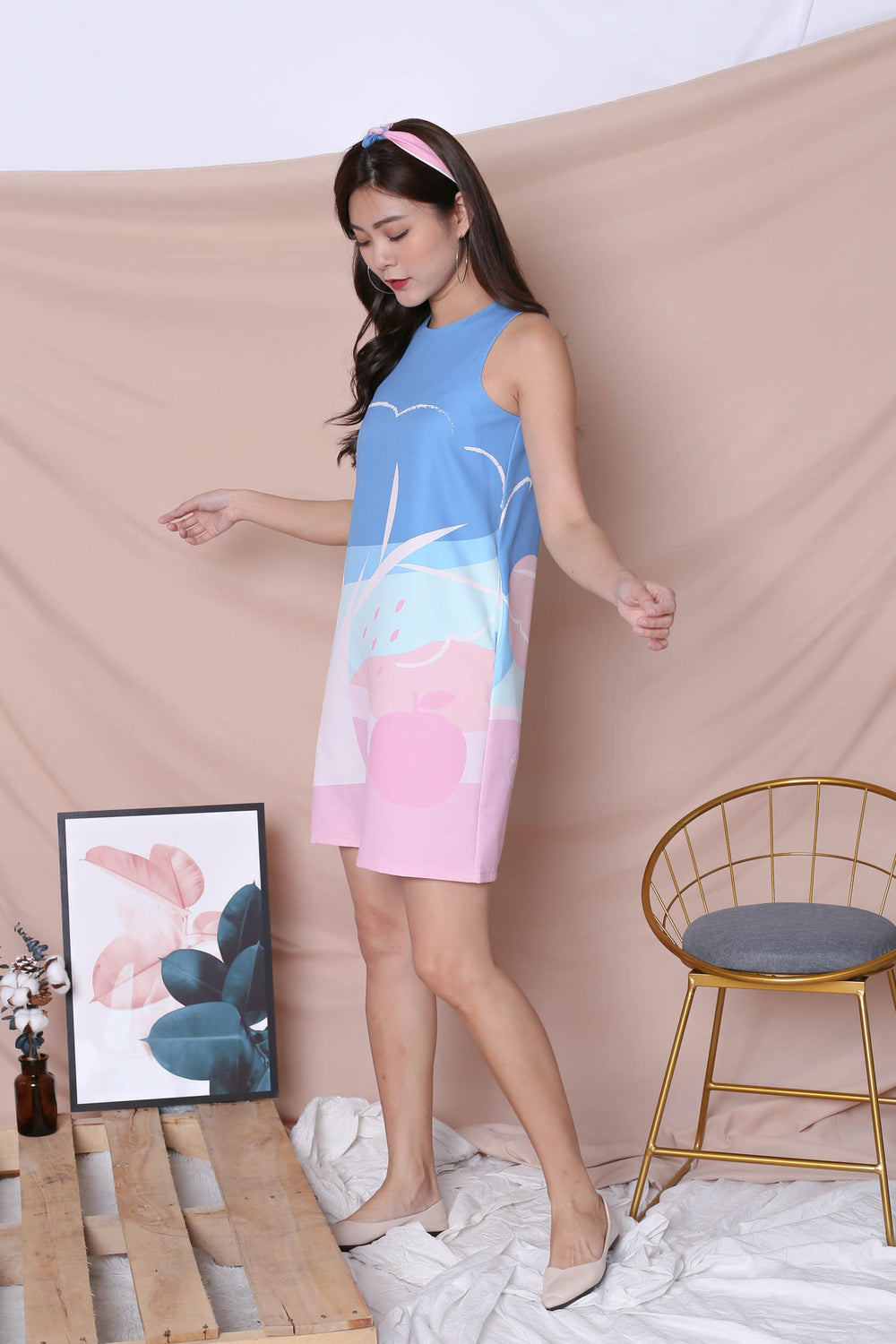 (PREMIUM) APPLE OF MY EYE SHIFT DRESS (PINK)